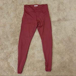 forever 21 cranberry leggings